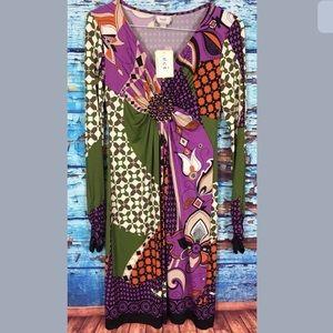 Eci New York long sleeve dress size 4